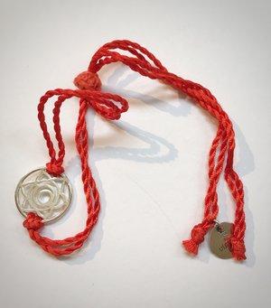 Silk Thread Chakra Bracelet - Silver