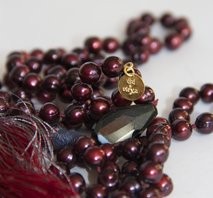 """Chakra-healing-at-Downtown-Abbey"" Mala - Red"